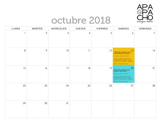 Talleres Octubre 2018